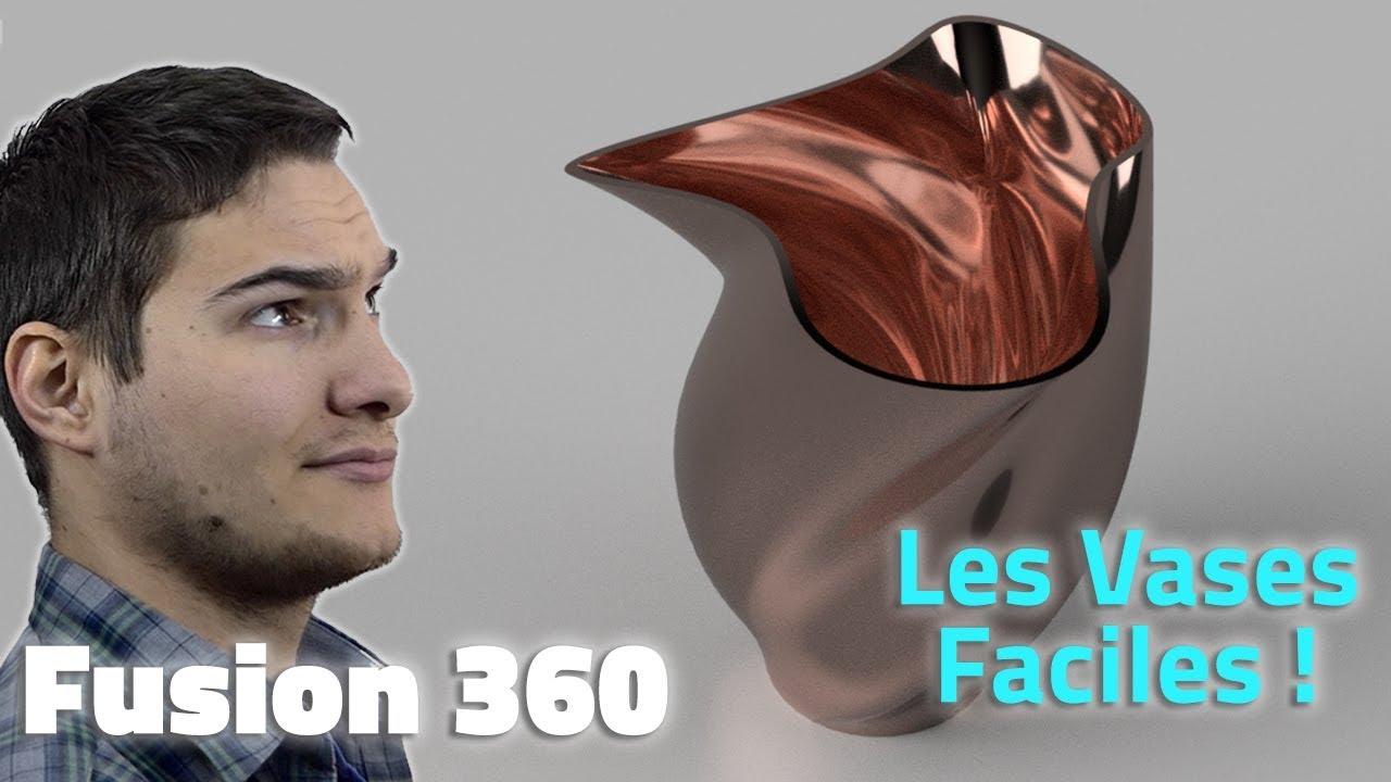 FUSION 360 - CRÉER DES VASES STYLÉS EN 5 MINUTES