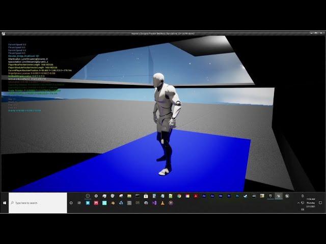 Spaceship Elevators Test in Unreal Engine 4.26