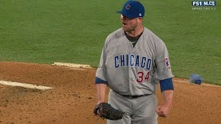 NLCS Gm5: Lester whiffs Seager to get out of trouble