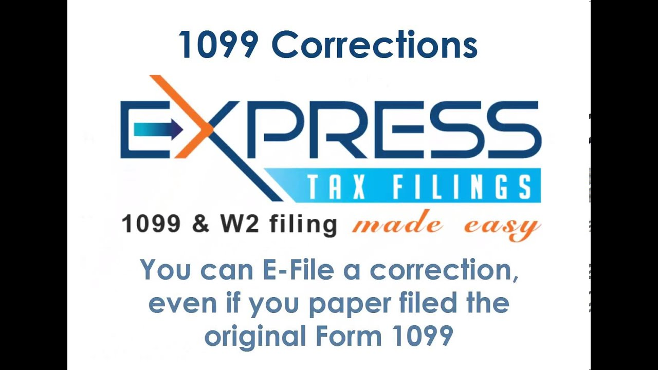 Form 1099 corrections youtube form 1099 corrections express tax filings falaconquin