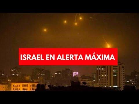 Israel en alerta máxima│Activan sirenas  Por ataque desde gaza