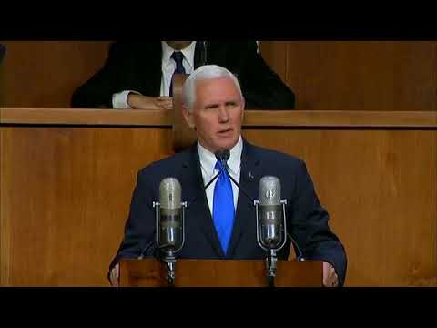 VP Pence makes remarks 70 years since UN Vote calling for establishment of state of Israel