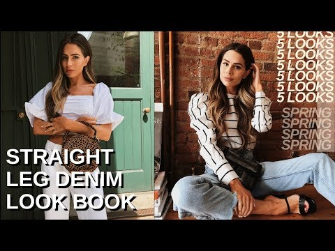 5 SIMPLE WAYS TO STYLE STRAIGHT LEG JEANS