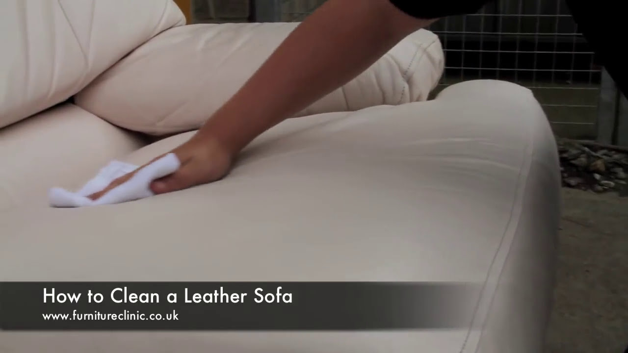 Sofa Fabric Cleaner Uk Table And End Tables Set How To Clean A Leather Youtube