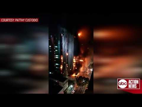 Un incendio en Sao Paulo siembra el caos