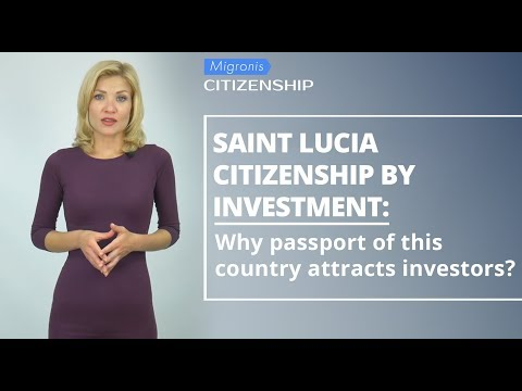 Saint Lucia citizenship by investment 👉Cost of St Lucia passport, benefits, application process