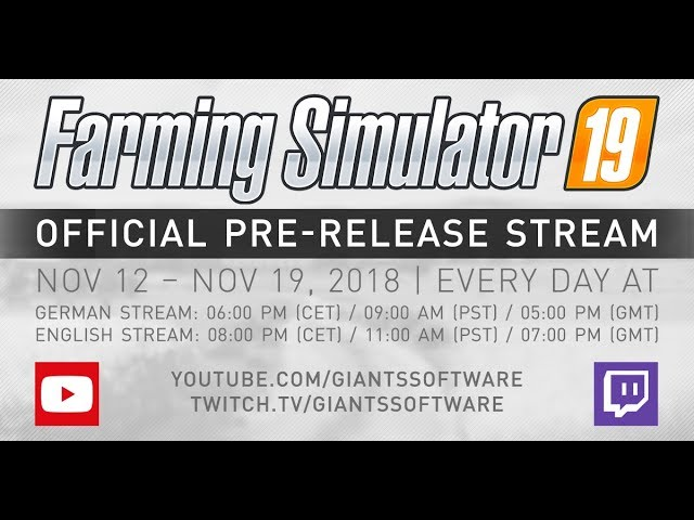 Farming Simulator 19 (видео)