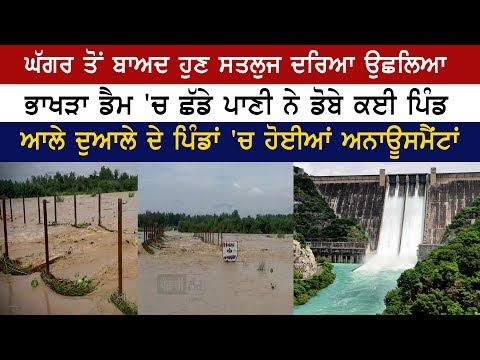 ਭਾਖੜਾ ਡੈਮ 'ਚ ਛੱਡੇ ਪਾਣੀ ਨੇ ਡੋਬੇ ਕਈ ਪਿੰਡ | Bhakhra Dam | Satluj River