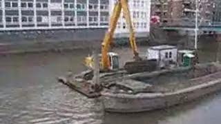 Baggerarbeiten im Fleet - Teil 5