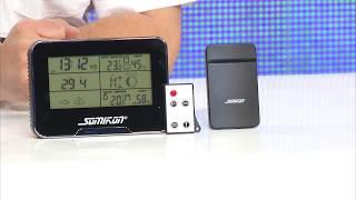 Somikon Full-HD-Überwachungskamera mit Funk-Wetterstation