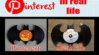 Pinterest In Real Life - Batman Vinyl Wall Clock