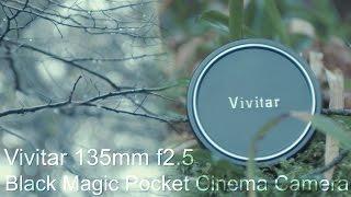 vivitar 135mm f2 5 daylight footage bmpcc