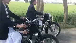 Kudi chori chori bullet chalon lag pyi | girl on bullet | full speed | viral video |