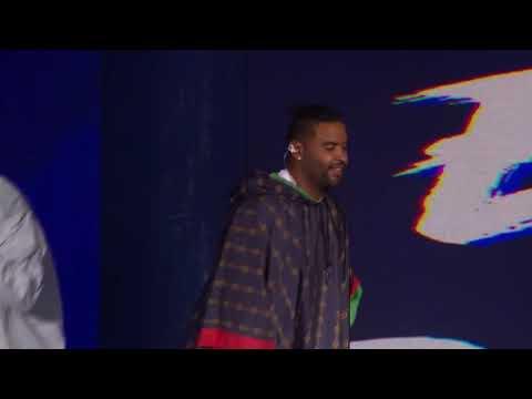 Zion & Lennox Feat Anuel AA Cantando Hipocrita En Vivo Premios HEAT