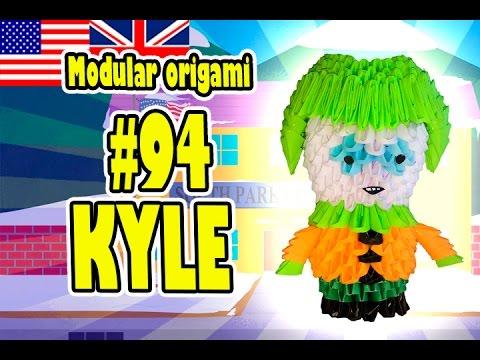 Papercraft 3D MODULAR ORIGAMI #94 KYLE SOUTH PARK