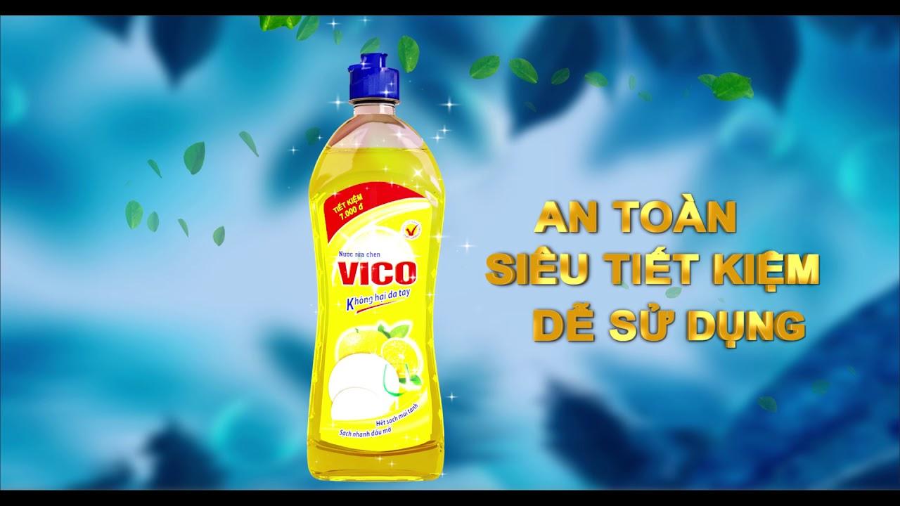 TVC Nước rửa chén VICO 30S - Đã tốt lại an toàn