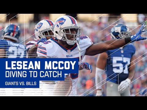 Tyrod Taylor Fires a Laser TD Pass to LeSean McCoy (Preseason) | Giants vs. Bills | NFL