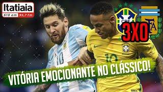 Brasil 3x0 Argentina - Melhores Momentos - Eliminatórias da...