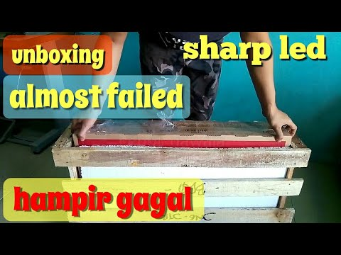 UNBOXING TV LED SHARP AQUOS LC-32LE180I