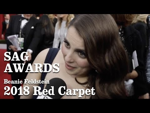 Download Youtube: Beanie Feldstein On The Red Carpet At The SAG Awards 2018