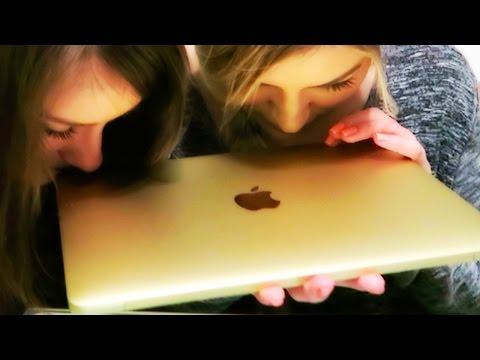 Gold MacBook unboxing   iJustine