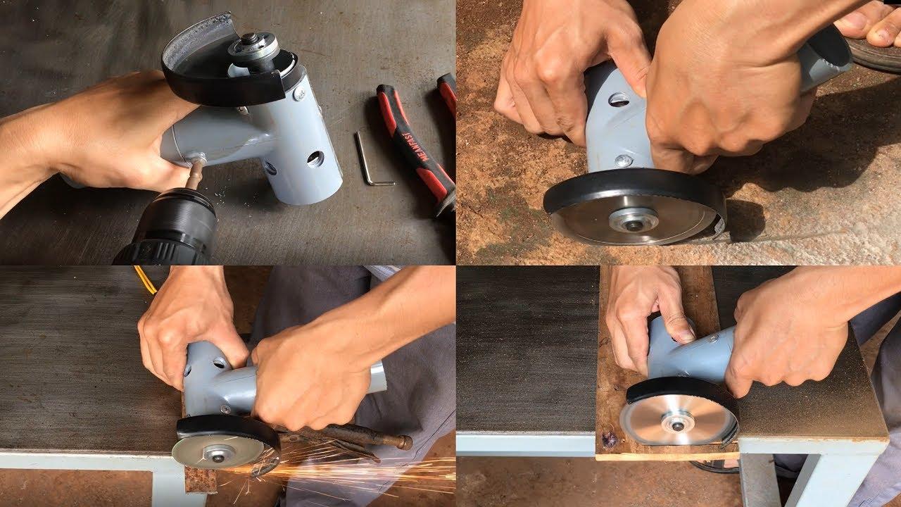 Chế máy cắt gỗ, sắt, gạch cầm tay mini đa năng| Mini portable cutting machine