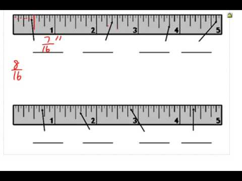 Reading A Ruler To A Sixteenth Of An Inch Youtube