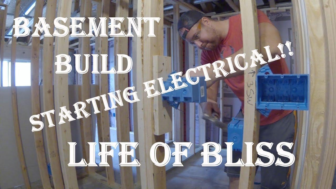 basement build 5 rough in electrical [ 1280 x 720 Pixel ]