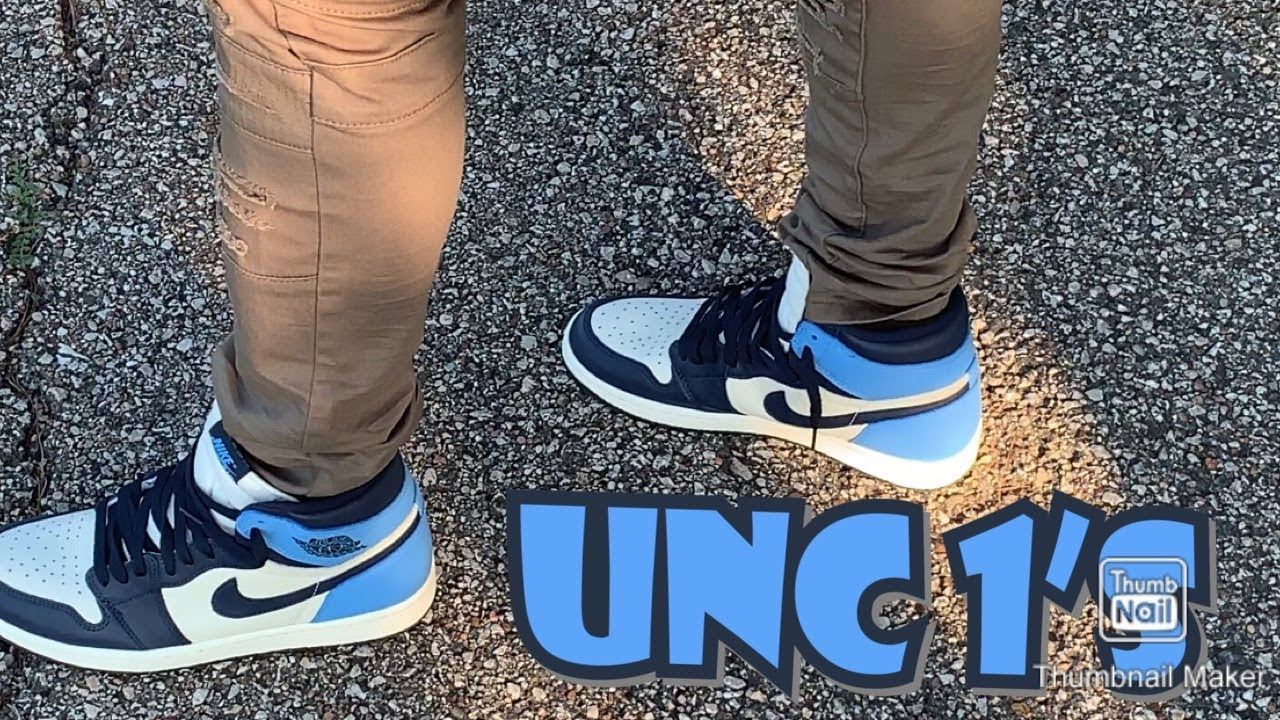 How To Style The Unc Aka Obsidian Air Jordan Retro 1 S Onfeet
