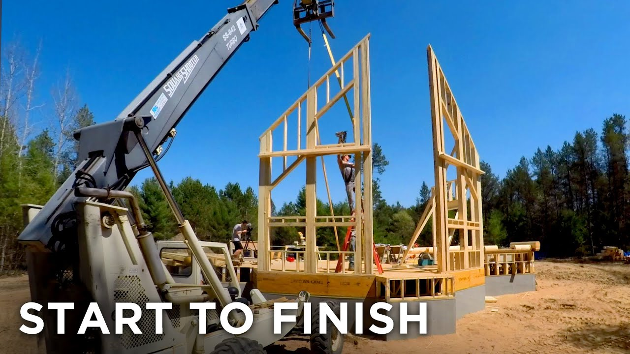 Building A House Time Lapse Home Construction Start To