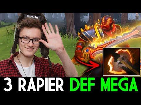 Miracle- Dota 2 [Ember Spirit] 3 Rapier CANT def mega