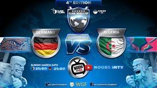 Deutschland vs Algerien | Clash of Clans Weltmeisterschaft 4-tel Finale| Clash of Clans deutsch live