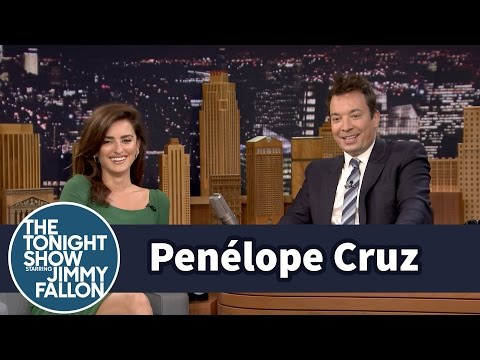 Penélope Cruz Styles Jimmy's Hair