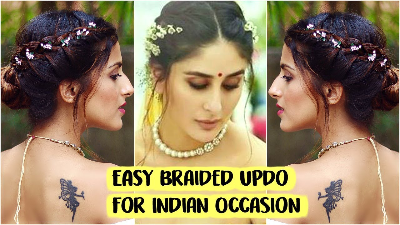 5 min easy bun hairstyle for wedding | party | sangeet | kareena kapoor- quick indian hairstyles