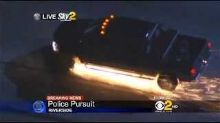 Wild CHP pursuit of drunk pickup driver, I-215, May 24, 2013