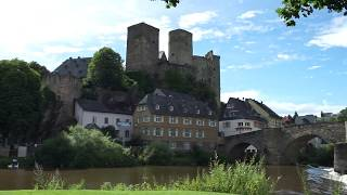 Runkel a small German town complete with castle and sausages