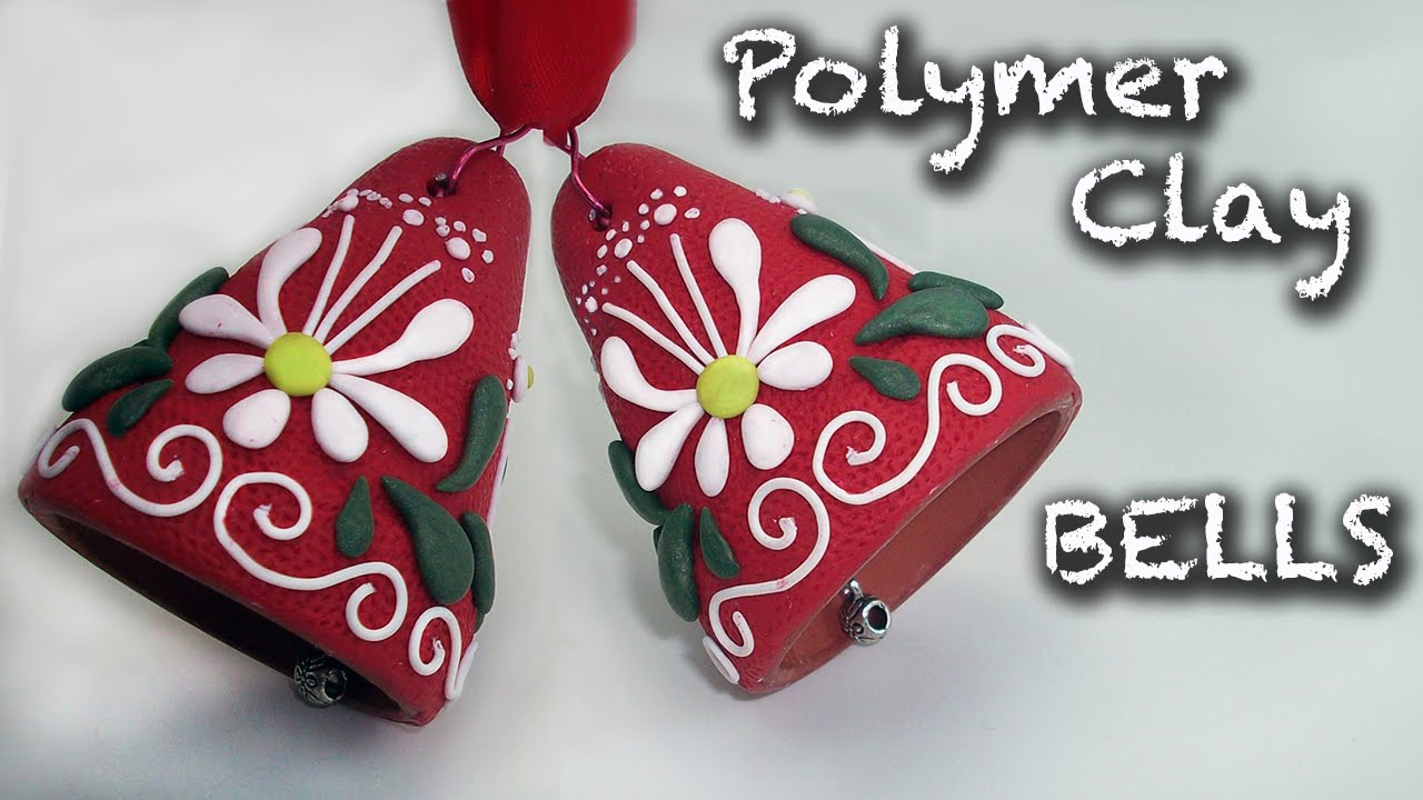 Polymer Clay Christmas Ideas.How To Make An Easy Christmas Decorations Polymer Clay Bell Tutorial