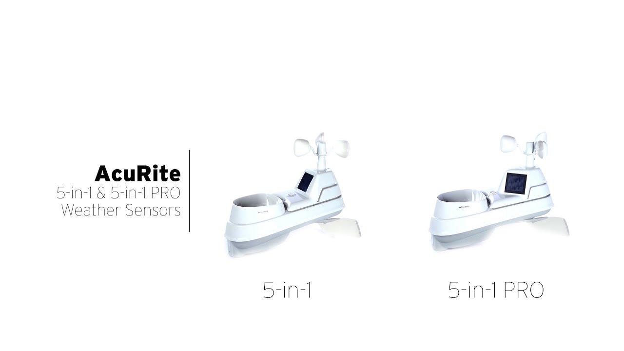 acurite 5 in 1 weather sensor u0026 5 in 1 pro weather sensor youtube