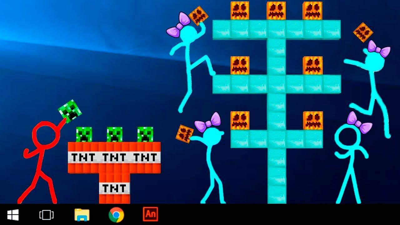 Animation Vs Minecraft Shorts Alan Becker AVM Shorts 18 Stickman VS Minecraft Shorts Stick Figure