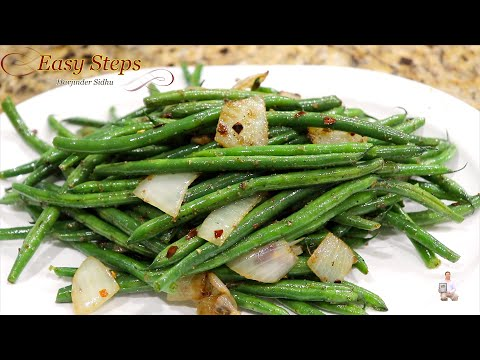 sautéed-french-beans-recipe-|-french-beans-pan-frying-vegan-recipe