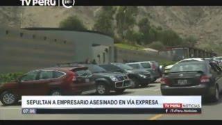 Sepultan a empresario asesinado en Vía Expresa
