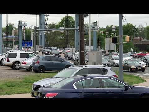 MONOC EMS AMBULANCE RESPONDING ON BELLEVILLE TURNPIKE IN KEARNY, NEW JERSEY.