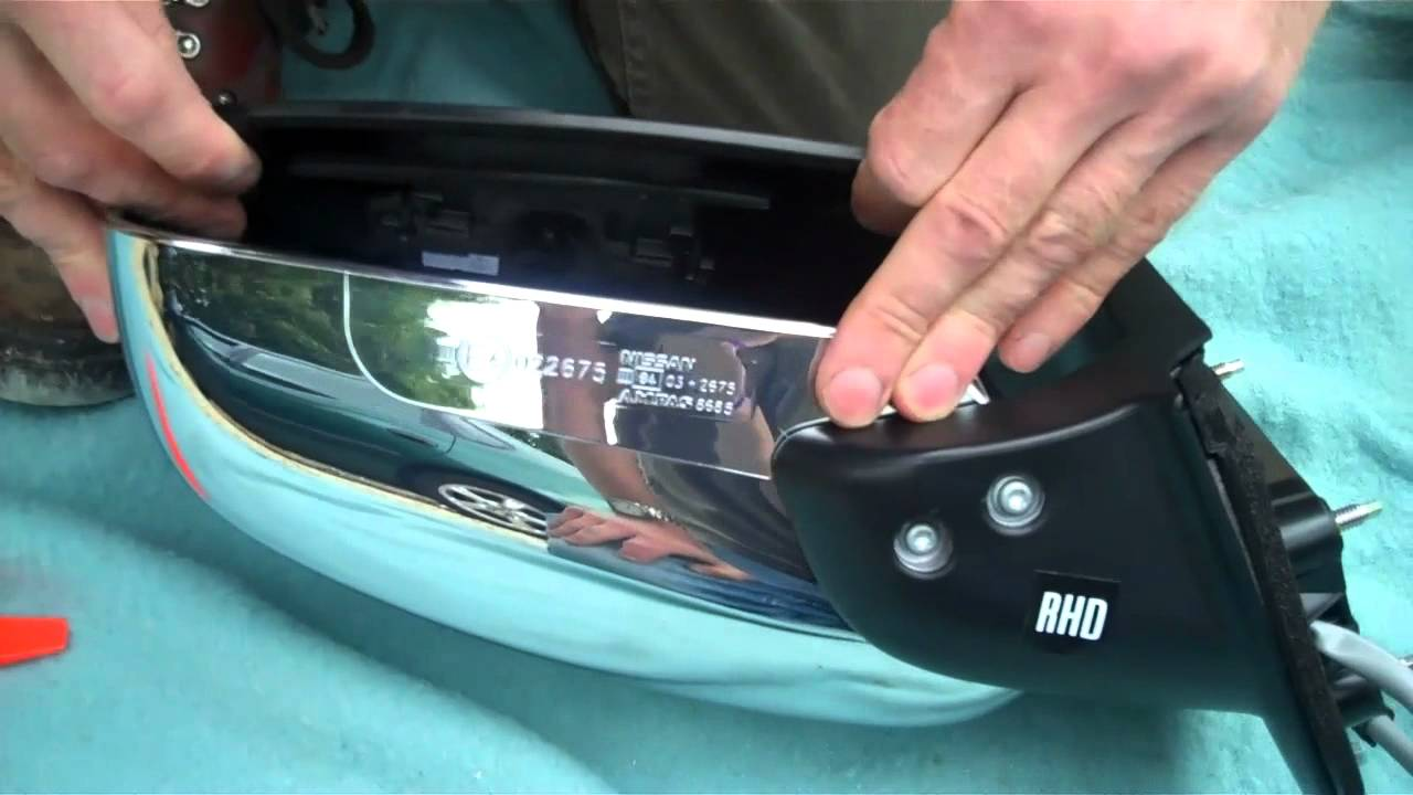 How To Change Mirror Glass In Nissan Navara D40 Wing