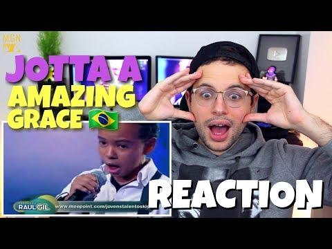 Jotta A - Amazing Grace | Brazilians Talent | The Best Kids | REACTION