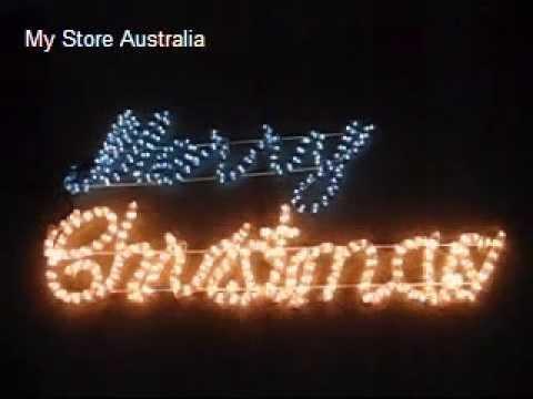 christmas lighting rope light multi colour merry christmas sign