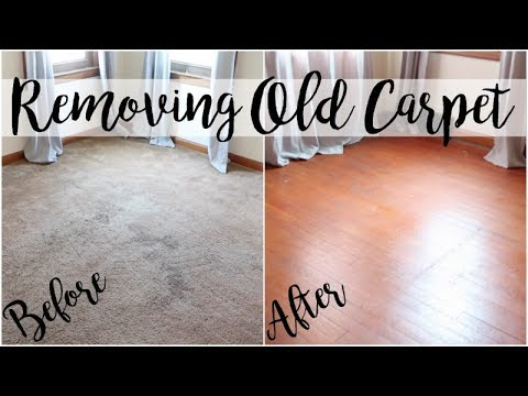 OLD CARPET REMOVAL | HOME PROJECT SERIES | BEFORE & AFTER