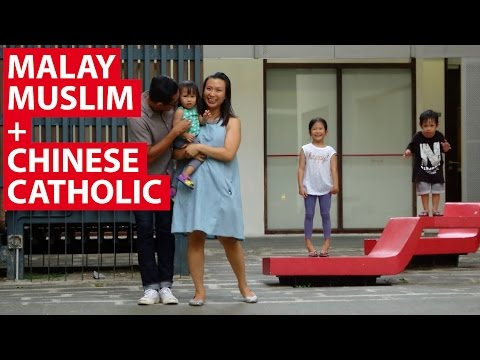 Malay Muslim + Chinese Catholic | On The Red Dot | CNA Insider