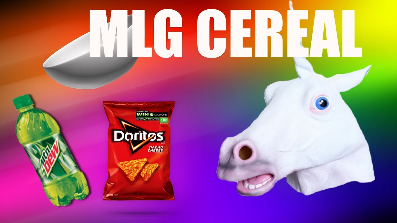 MLG Mountain Dew and Doritos Cereal - YouTube