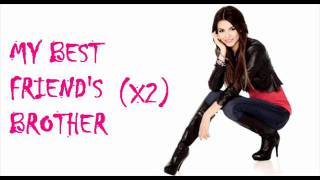 victoria justice best friend s brother bfb karaoke instrumental with lyrics on screen