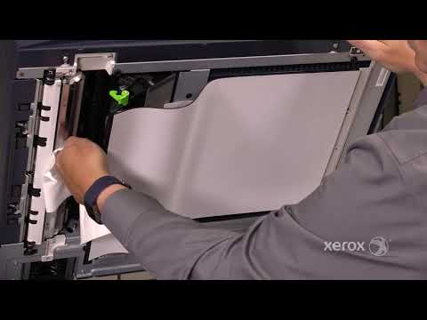Xerox® Versant® 80 180 Color Press Cleaning the CIS Sensor Second Side Scanning